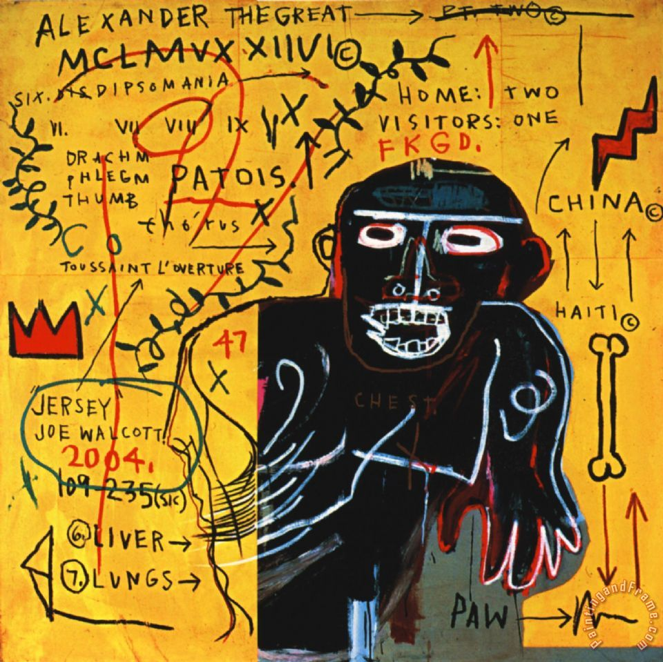 Colored cast - All Colored Cast Part Iii Painting Jean Michel Basquiat All Colored Cast Part Iii