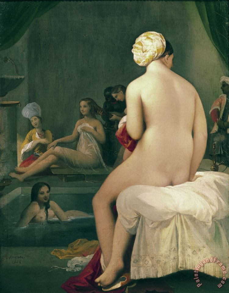 The Little Bather in the Harem painting - Jean Auguste Dominique Ingres The Little Bather in the Harem Art Print