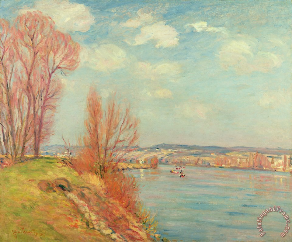 The Bay and the River painting - Jean Baptiste Armand Guillaumin The Bay and the River Art Print