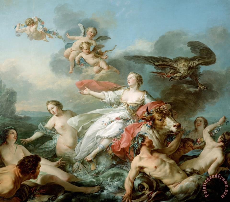 The Abduction of Europa painting - Jean Baptiste Marie Pierre The Abduction of Europa Art Print