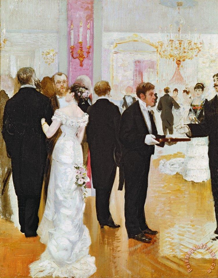 The Wedding Reception Painting Jean Beraud Art Print