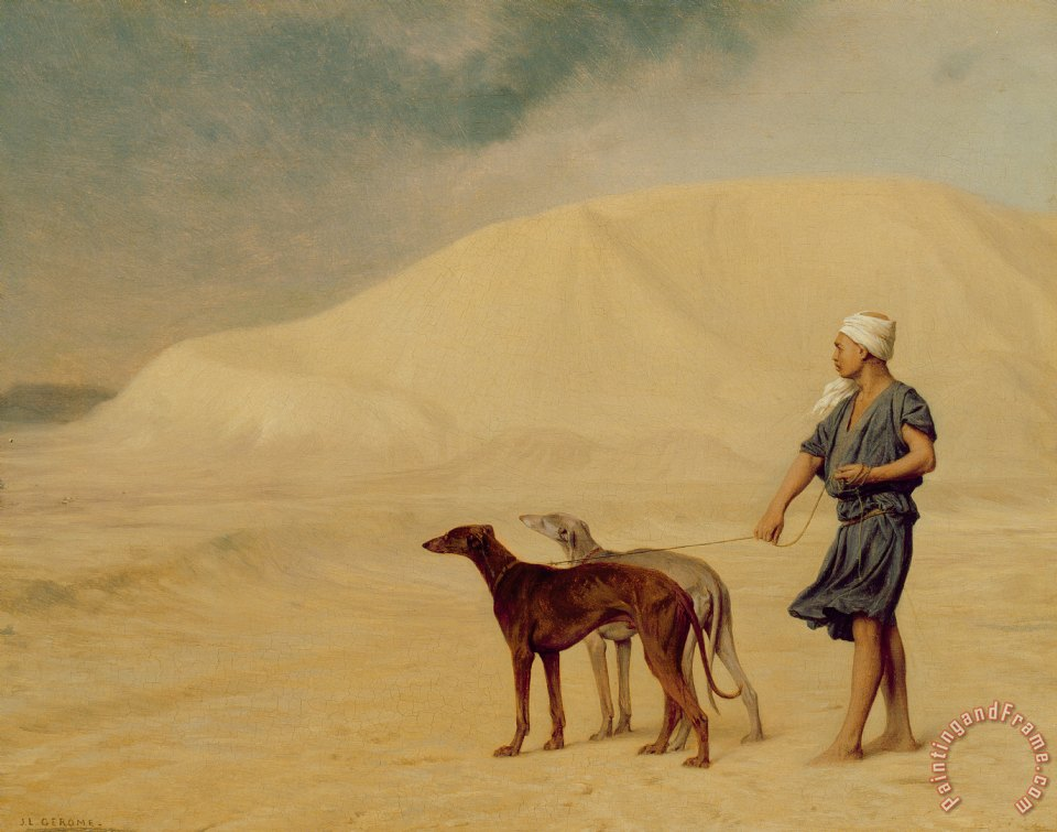 In the Desert painting - Jean Leon Gerome In the Desert Art Print