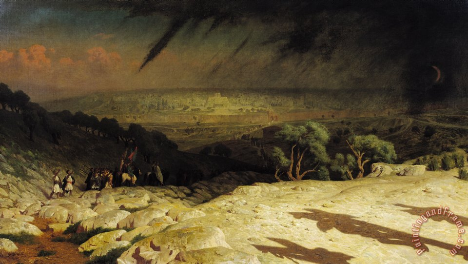 Jean Leon Gerome Jerusalem Painting Jerusalem Print For Sale