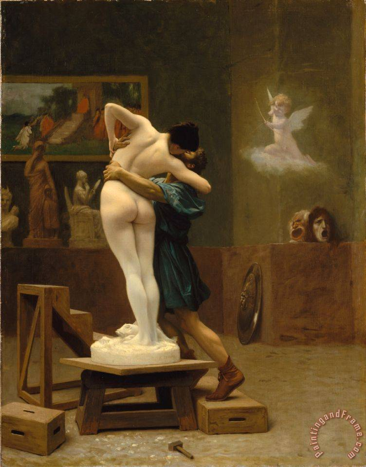 Jean Leon Gerome Pygmalion And Galatea Art Print