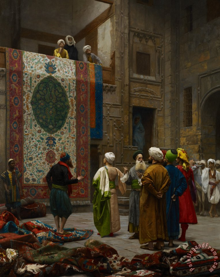 The Carpet Merchant painting - Jean Leon Gerome The Carpet Merchant Art Print