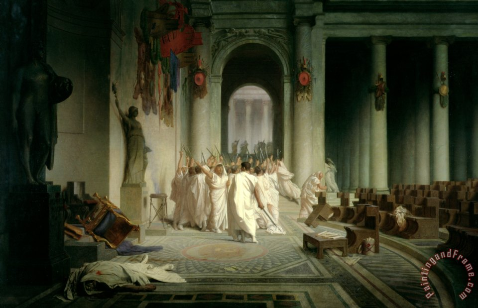 The Death of Caesar painting - Jean Leon Gerome The Death of Caesar Art Print