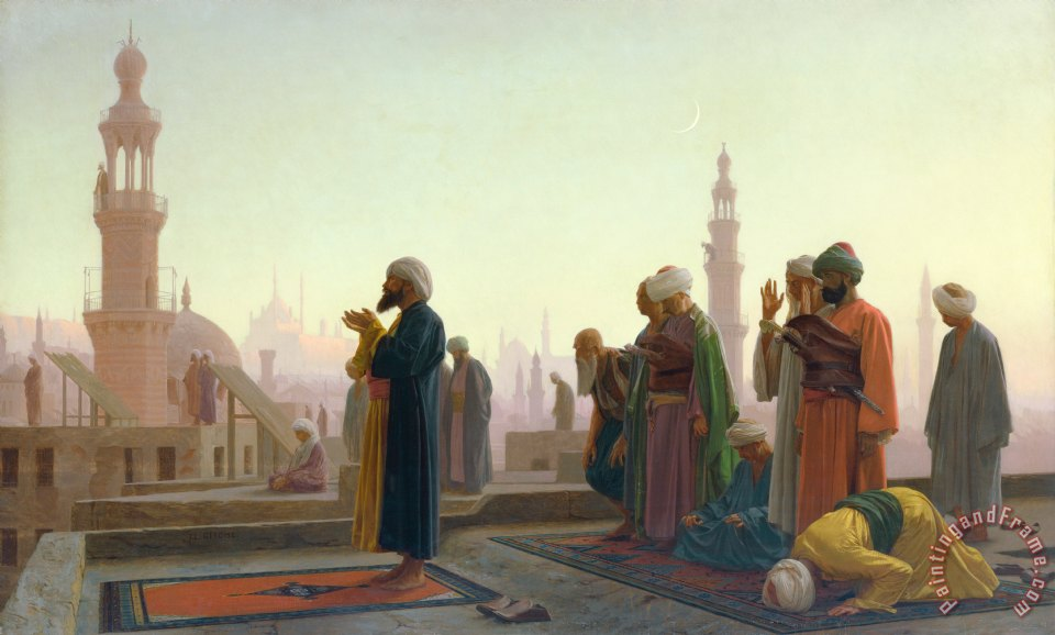 Jean Leon Gerome The Prayer Art Painting
