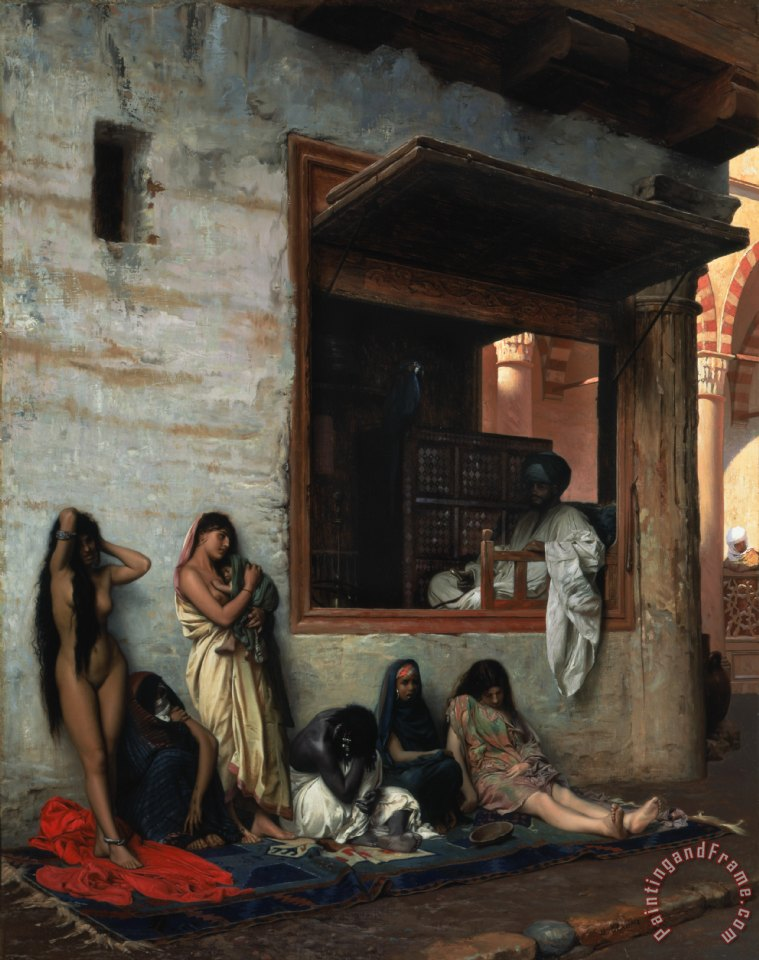 Jean Leon Gerome The Slave Market Art Print