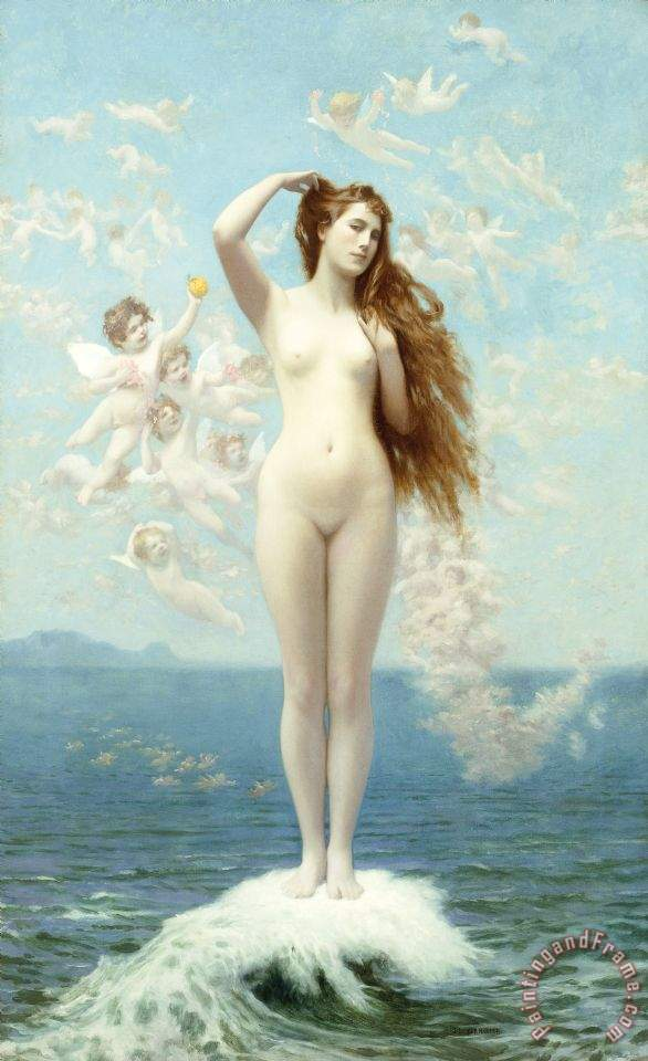 Venus Rising The Star painting - Jean Leon Gerome Venus Rising The Star Art Print