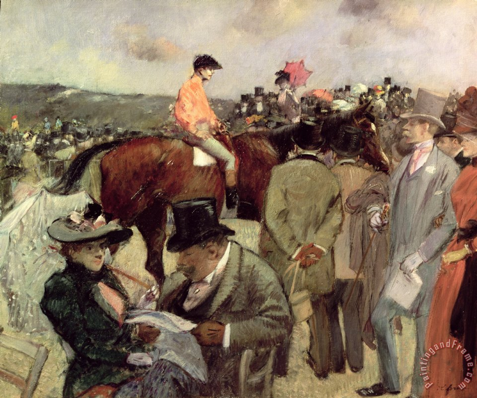 The Horse Race painting - Jean Louis Forain The Horse Race Art Print