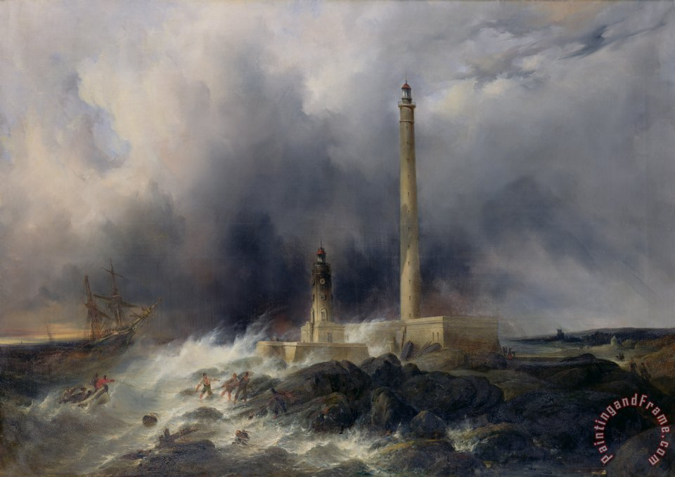 Jean Louis Petit View of the Lighthouse at Gatteville Art Print