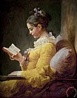 Young Girl Reading by JeanHonore Fragonard