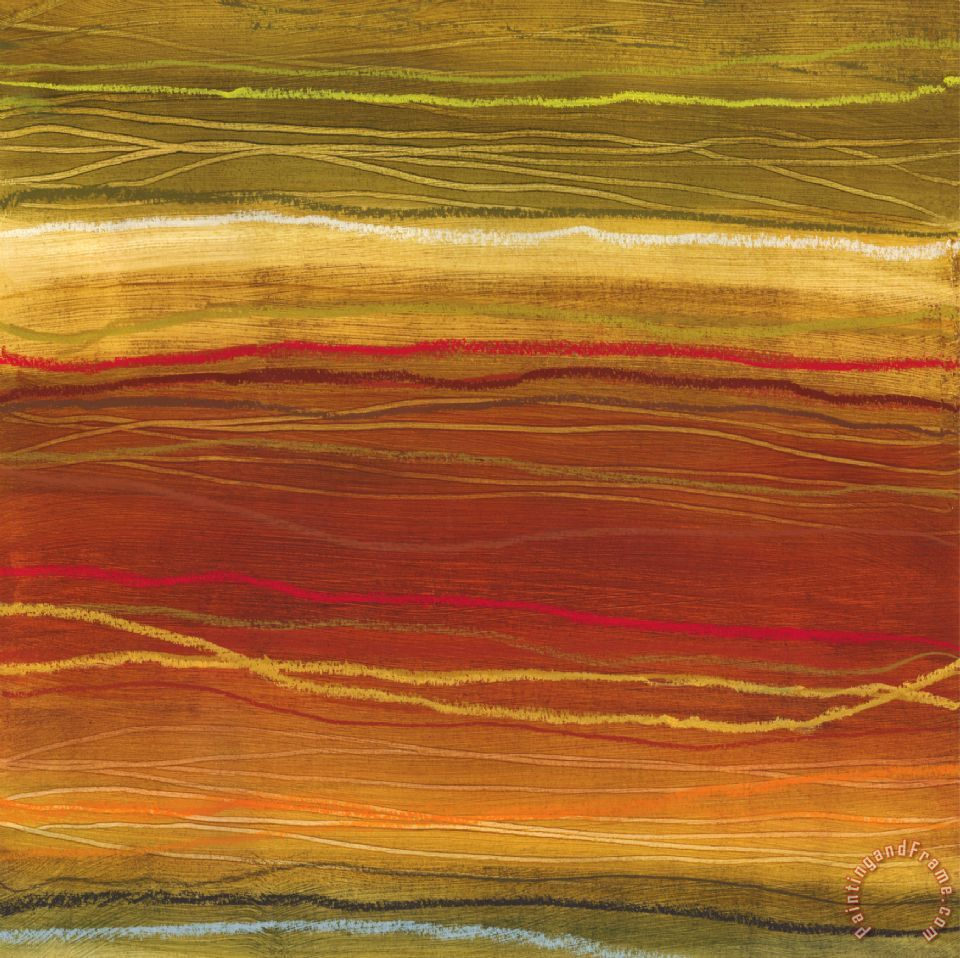 Organic Layers Cut Iv painting - Jeni Lee Organic Layers Cut Iv Art Print