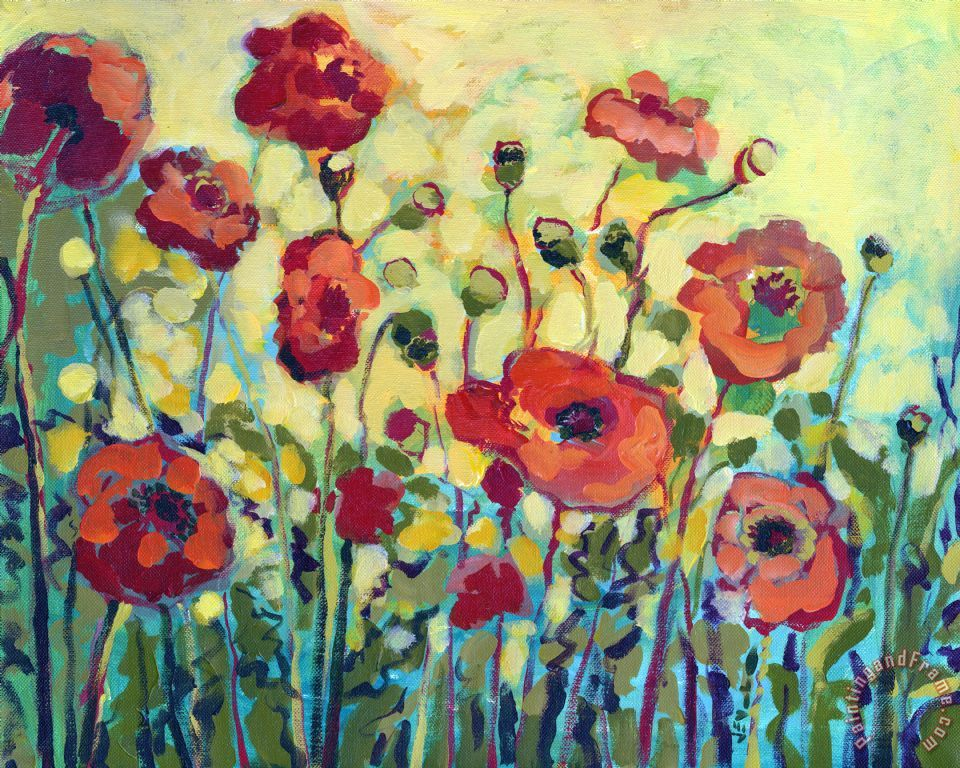 Anitas Poppies painting - Jennifer Lommers Anitas Poppies Art Print