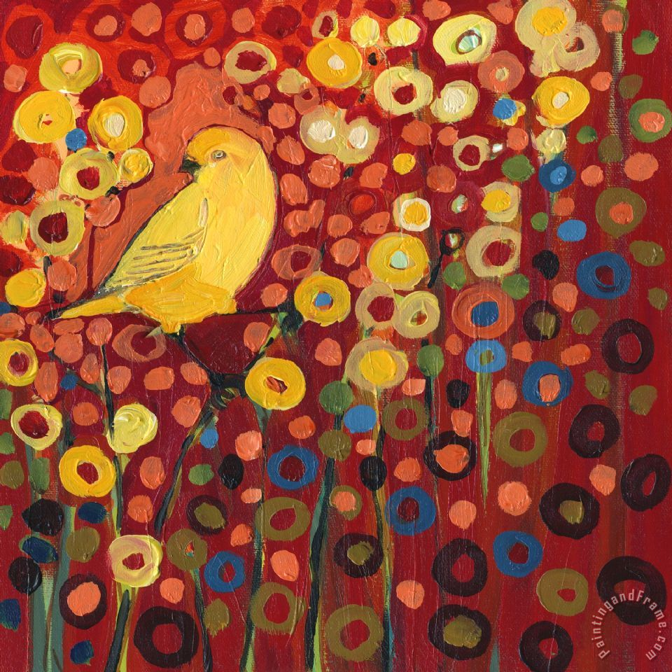 Canary in Red painting - Jennifer Lommers Canary in Red Art Print