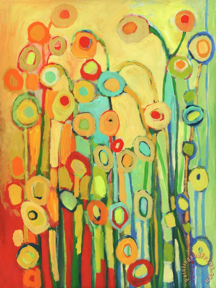 Dance of the Flower Pods painting - Jennifer Lommers Dance of the Flower Pods Art Print