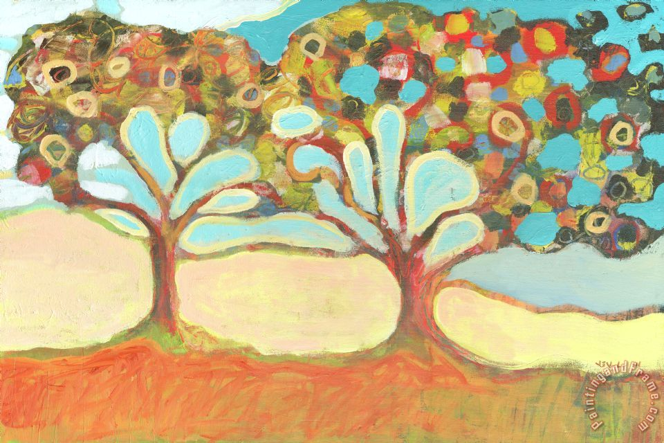 Finding Strength Together painting - Jennifer Lommers Finding Strength Together Art Print