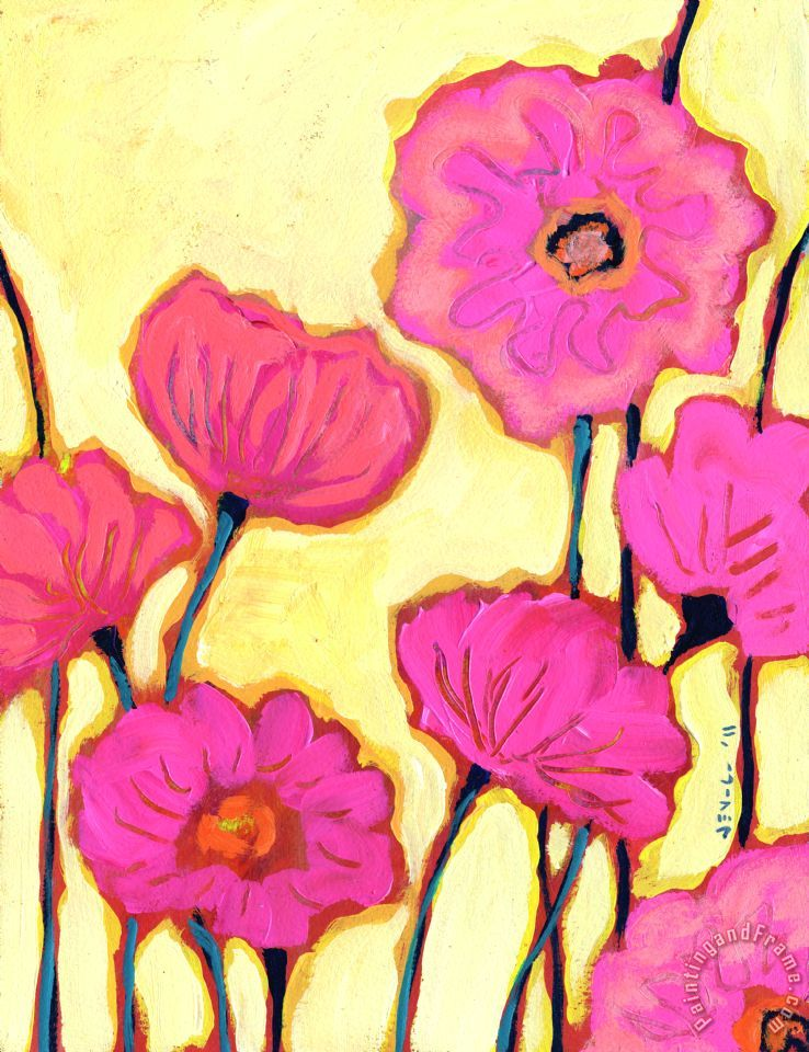 Flowers for Coralyn painting - Jennifer Lommers Flowers for Coralyn Art Print