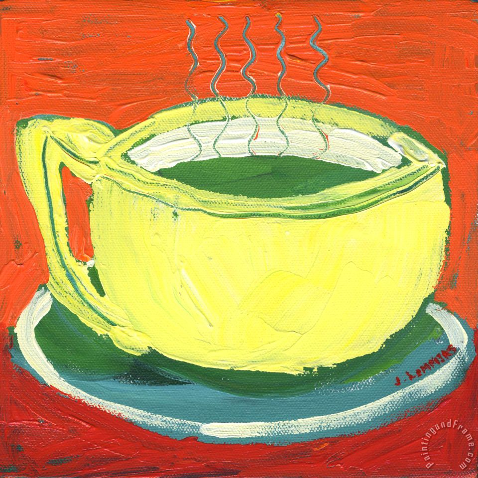 Green Tea painting - Jennifer Lommers Green Tea Art Print
