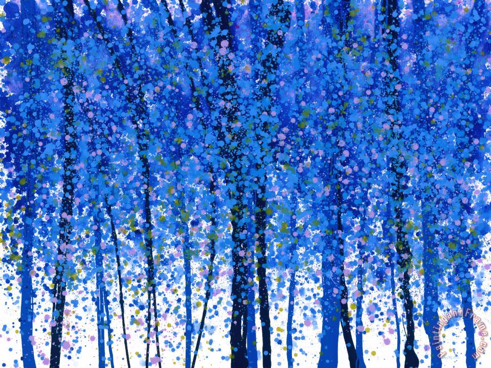 Trees at Twilight IX painting - Jerome Lawrence Trees at Twilight IX Art Print