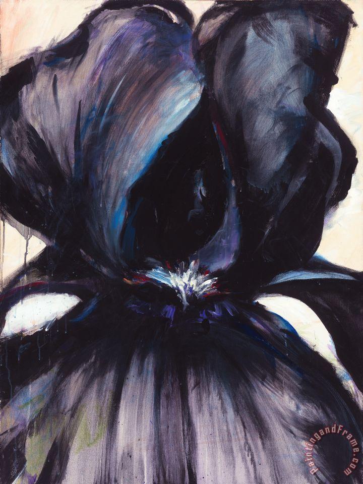 Jerome Lawrence Delilah Black Iris Art Painting