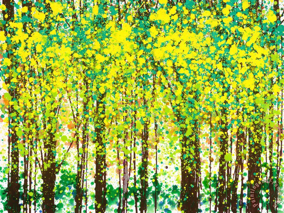 Jerome Lawrence Trees At Twilight Iii Painting Trees At