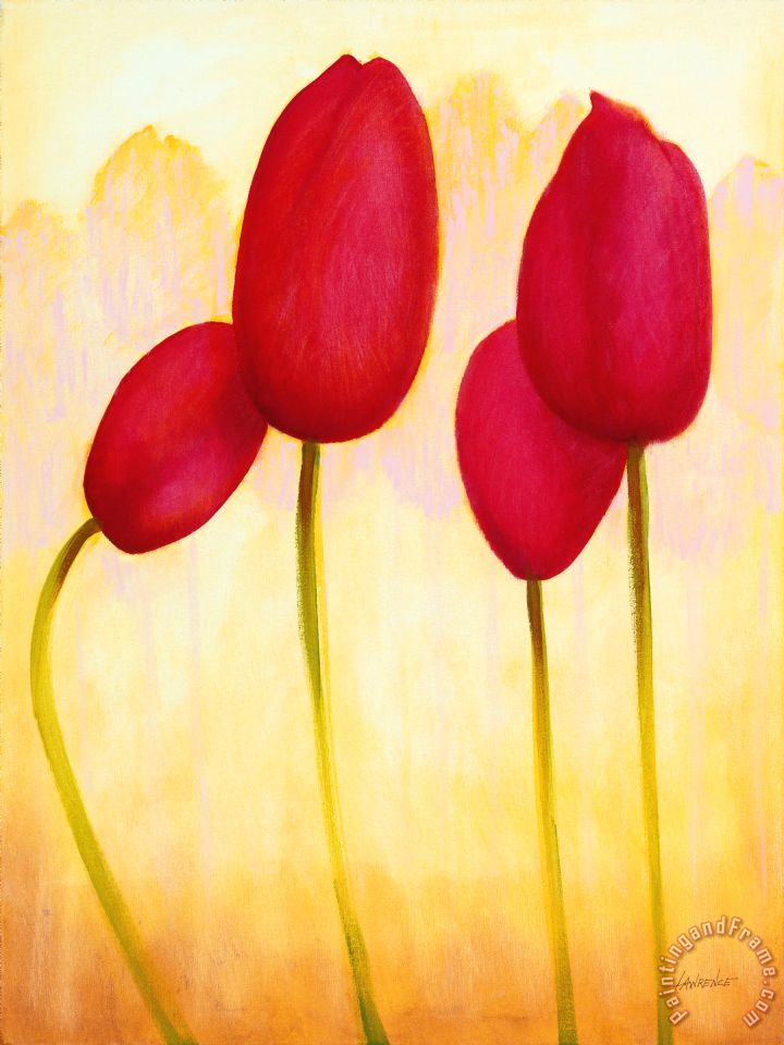 Jerome Lawrence Tulips Are People Xv Painting Tulips Are
