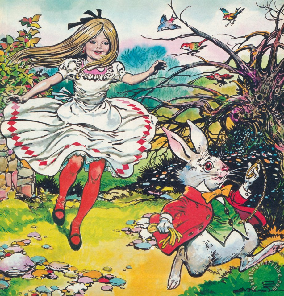 Alice In Wonderland painting - Jesus Blasco Alice In Wonderland Art Print