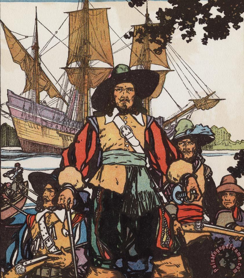 jl kraemer french explorer robert de lasalle with ships