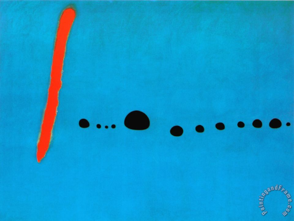 Joan Miro Blue II C 1961 Art Print