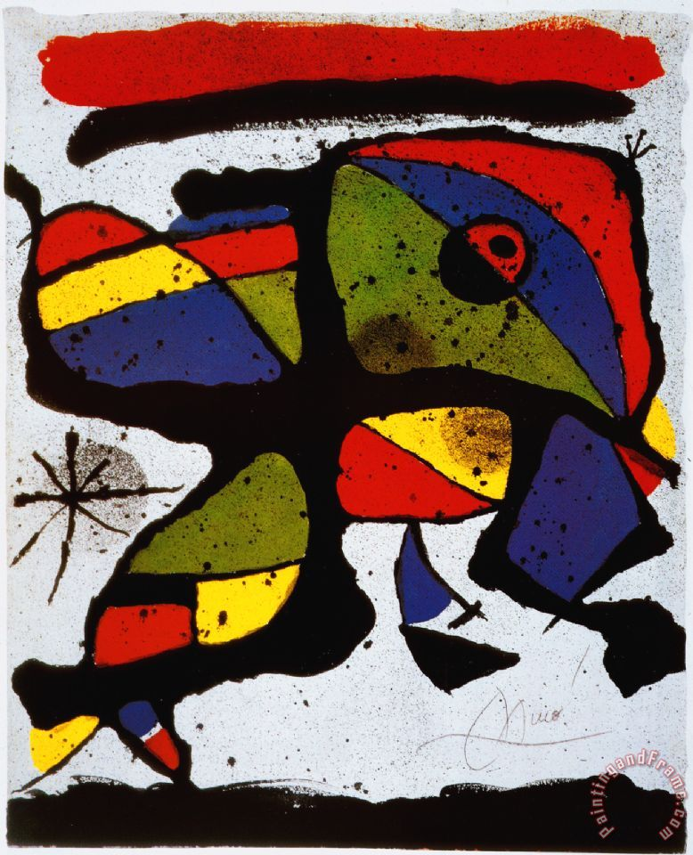 Composition painting - Joan Miro Composition Art Print