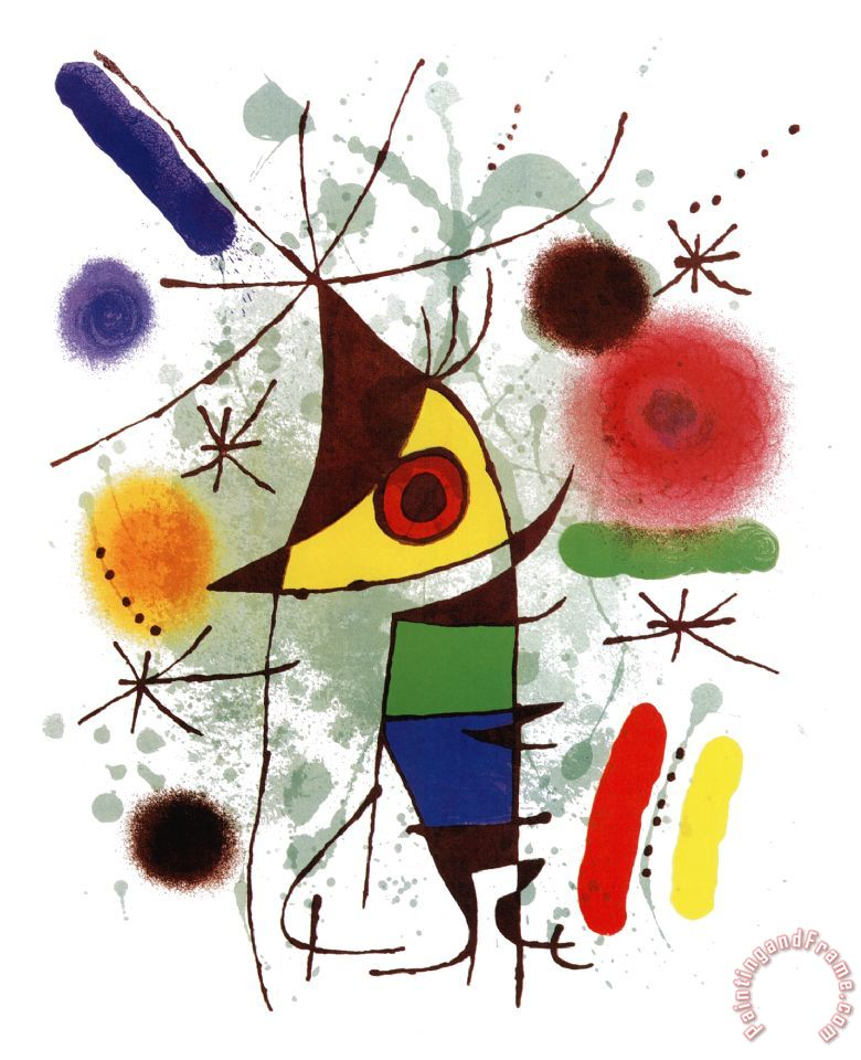 Joan Miro Le Chanteur Art Print