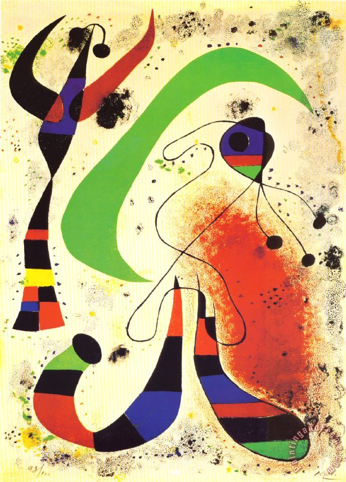 Joan Miro Night Art Print