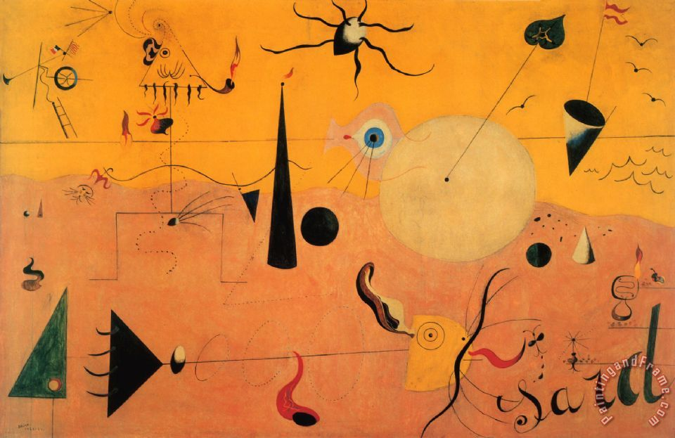 Orange Abstract Canvas Art 1923