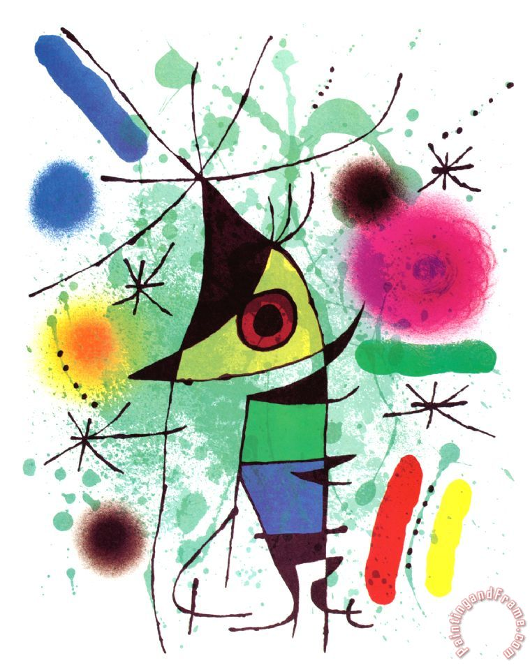 The Singing Fish painting - Joan Miro The Singing Fish Art Print