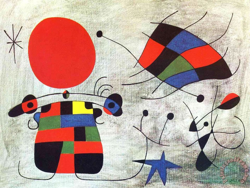 Joan Miro The Smile of The Flamboyant Wings Art Print