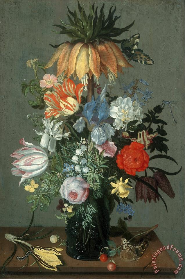 Flower Still Life with Crown Imperial painting - Johannes Bosschaert Flower Still Life with Crown Imperial Art Print