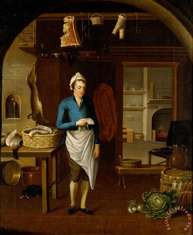 John Atkinson Kitchen Scene Painting