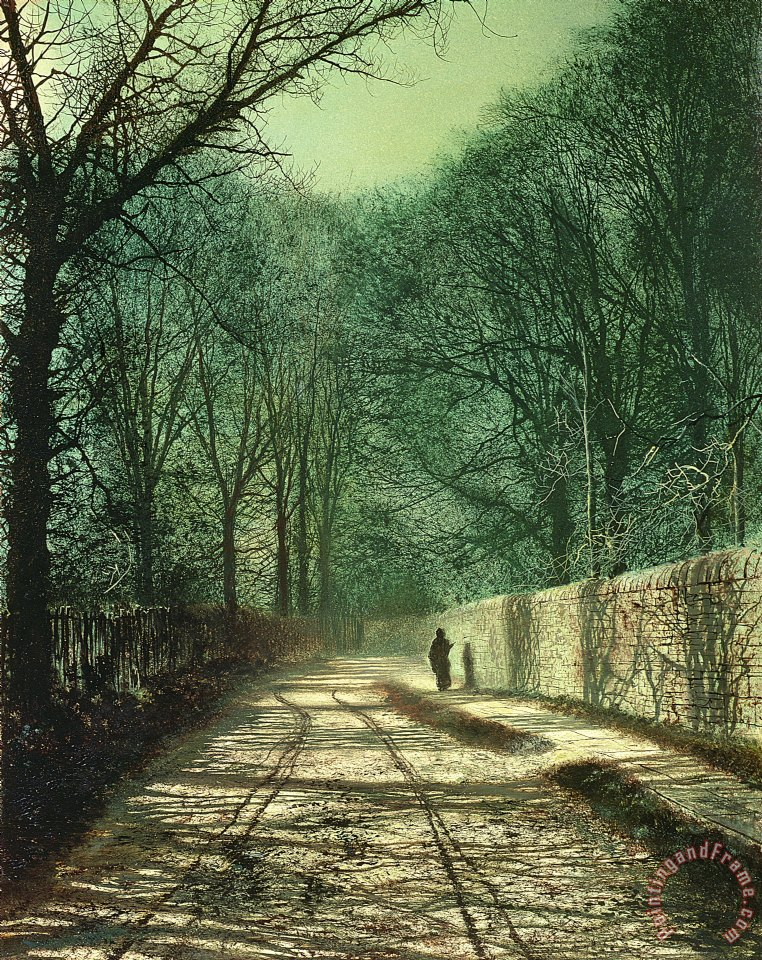 Tree Shadows in the Park Wall painting - John Atkinson Grimshaw Tree Shadows in the Park Wall Art Print