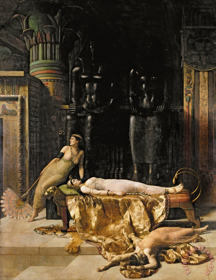 The Death of Cleopatra painting - John Collier The Death of Cleopatra Art Print