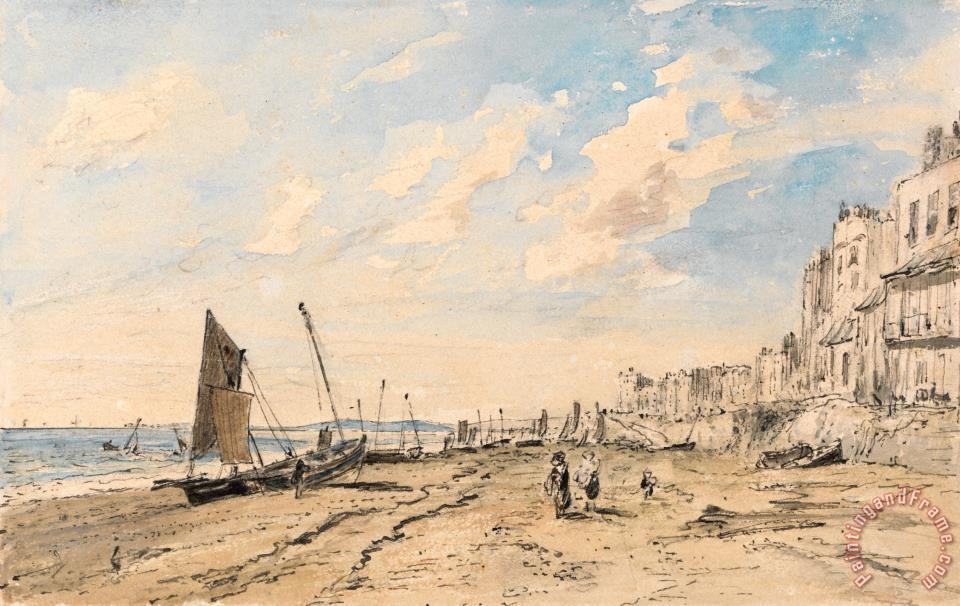 John Constable Brighton Beach Looking West Painting Brighton Beach Looking West Print For Sale