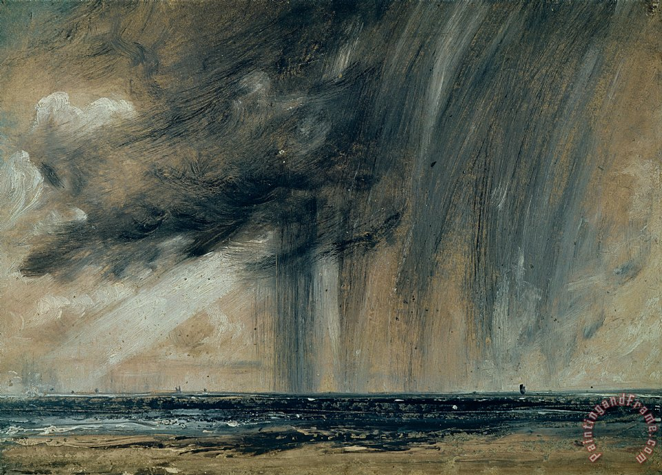 Rainstorm over the Sea painting - John Constable Rainstorm over the Sea Art Print