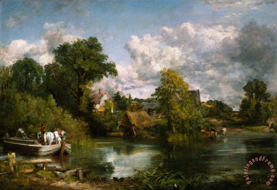 The White Horse painting - John Constable The White Horse Art Print