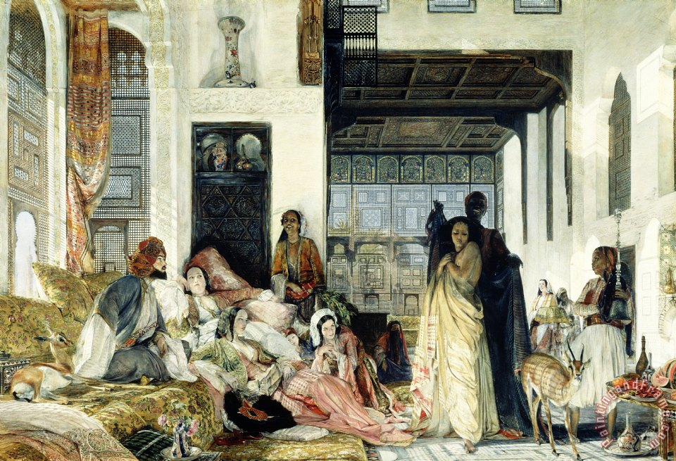 The Harem painting - John Frederick Lewis The Harem Art Print