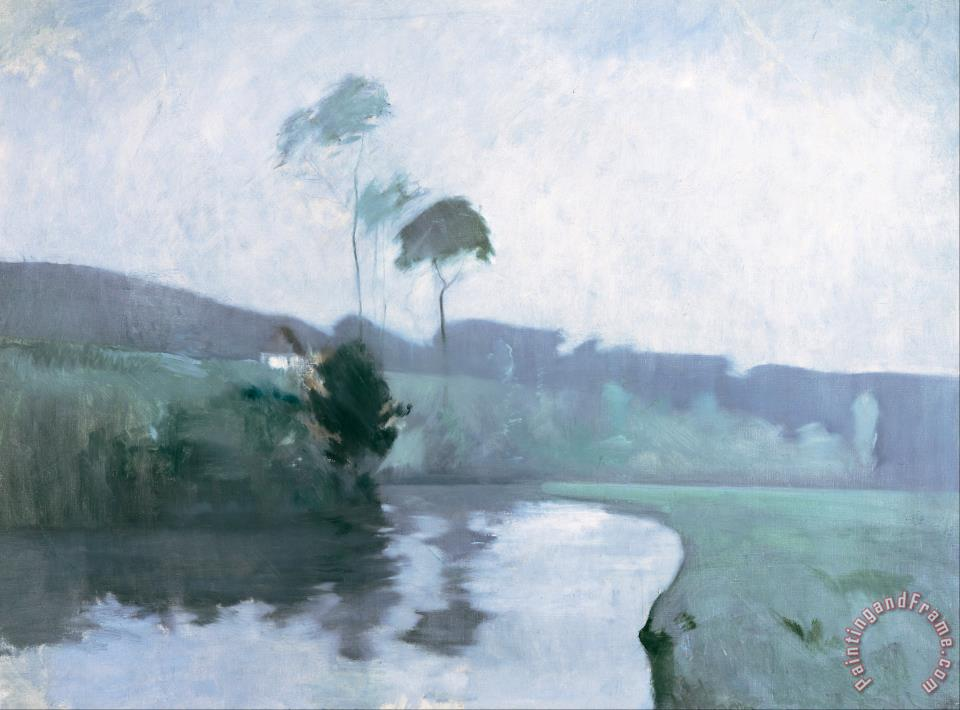 f829546a1c71c John Henry Twachtman Springtime painting - Springtime print for sale