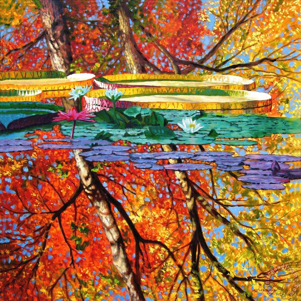 John Lautermilch Fall Reflections Art Painting