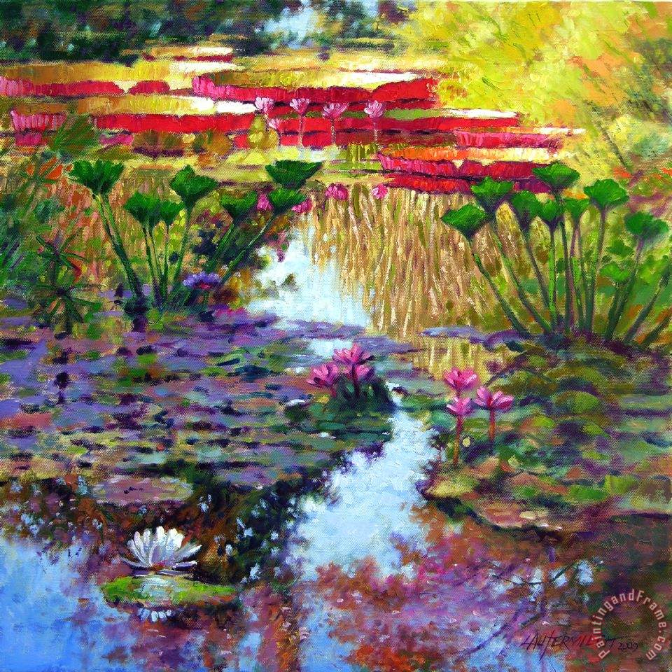 Impressions of Summer Colors painting - John Lautermilch Impressions of Summer Colors Art Print