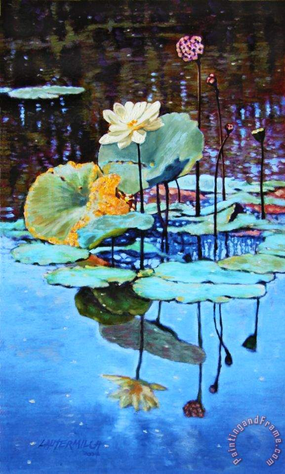 Summer Calm painting - John Lautermilch Summer Calm Art Print