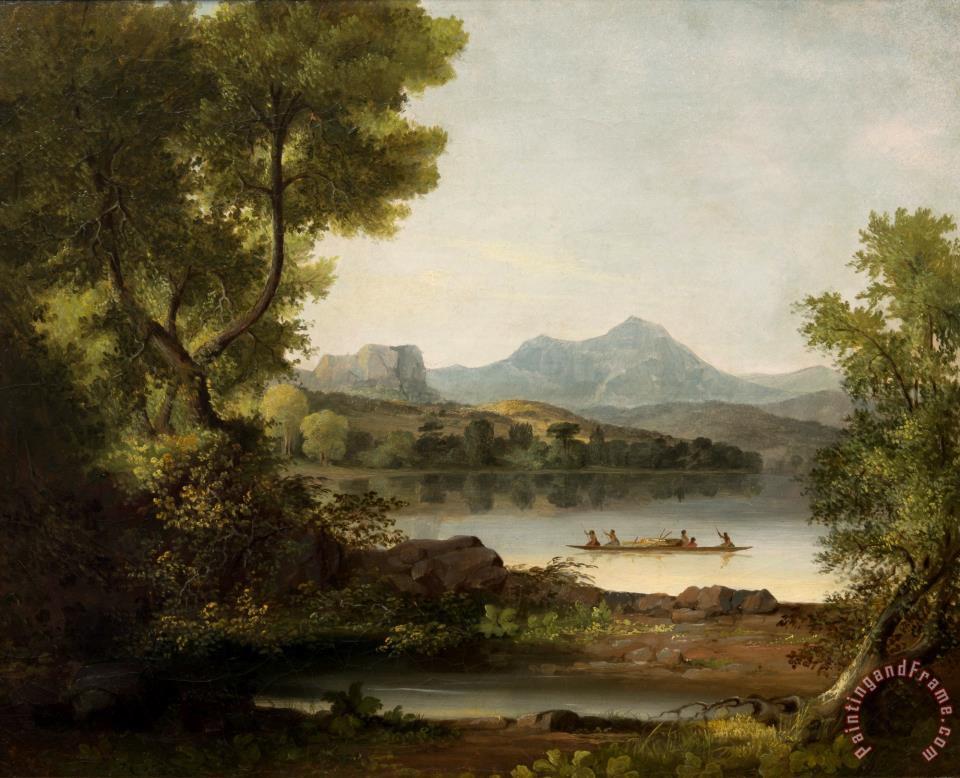 John Mix Stanley Scene On The Columbia River Painting Scene On The Columbia River Print For Sale