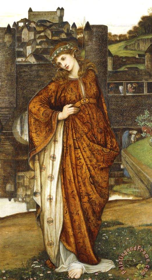 John Roddam Spencer Stanhope Our Lady Of The Water Gate Art Print